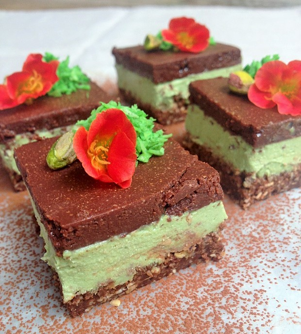 raw peppermint bar