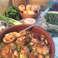 Pollo al Ajillo, Chicken in Garlic Sauce .