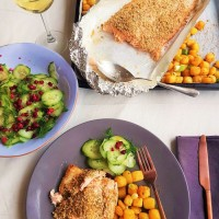 Dukkah Parmesan crusted whole Salmon Fillet...