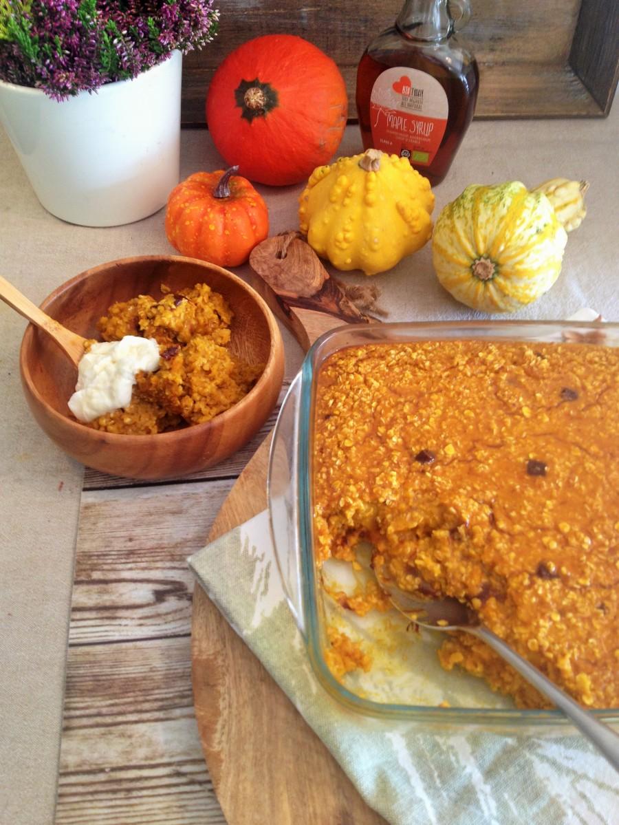 Caramel Pumpkin Pie Baked Oatmeal