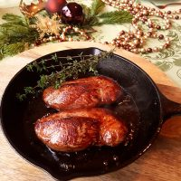 Duck Breast with Cherry Sauce for two