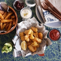 Beer battered Cod Loin with Lemon Aioli Remoulade