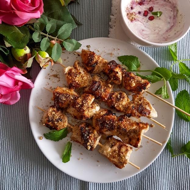 pistachio dukkah chicken