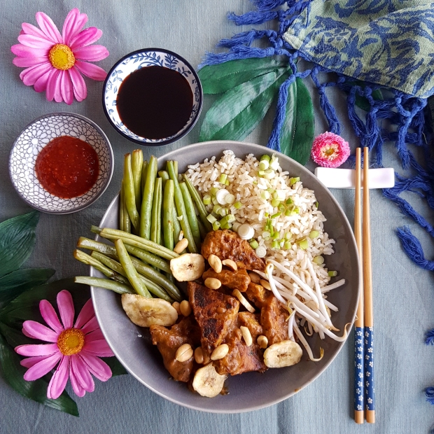 tempeh with lime coconut
