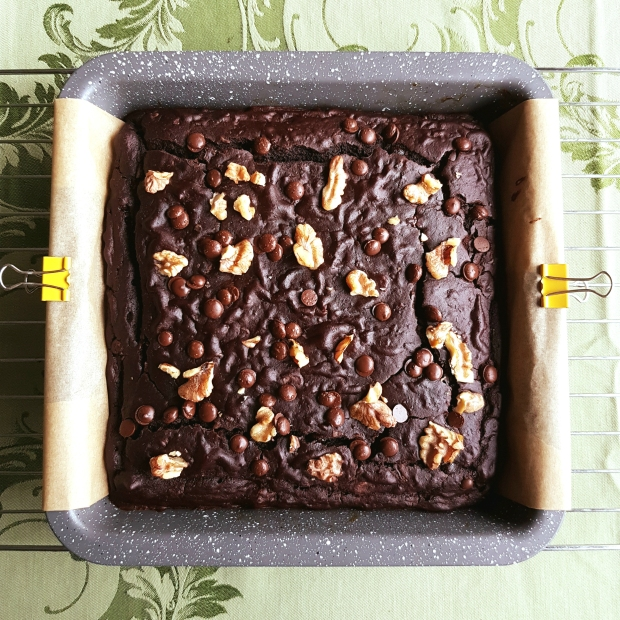 the best healthy coffee walnut brownies