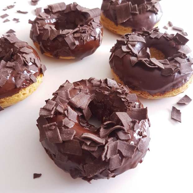 brown butter vanilla donuts with chocolate frosting