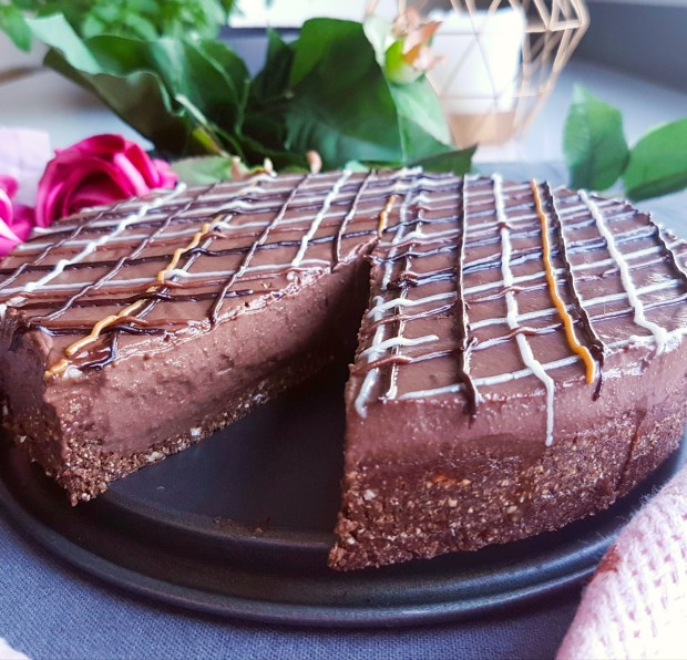 vegan chocolate mocha pie