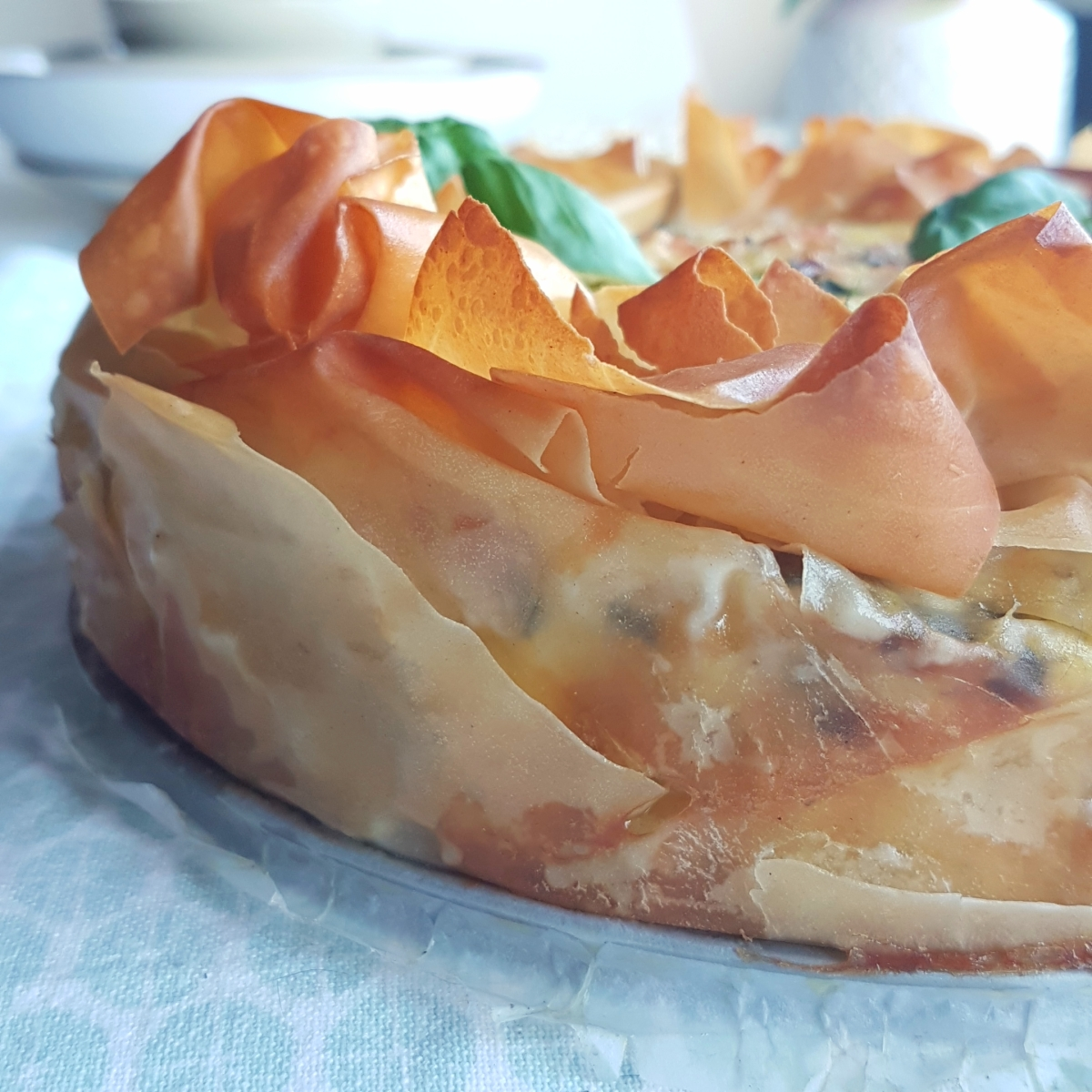 Salmon and Zucchini Phyllo Quiche