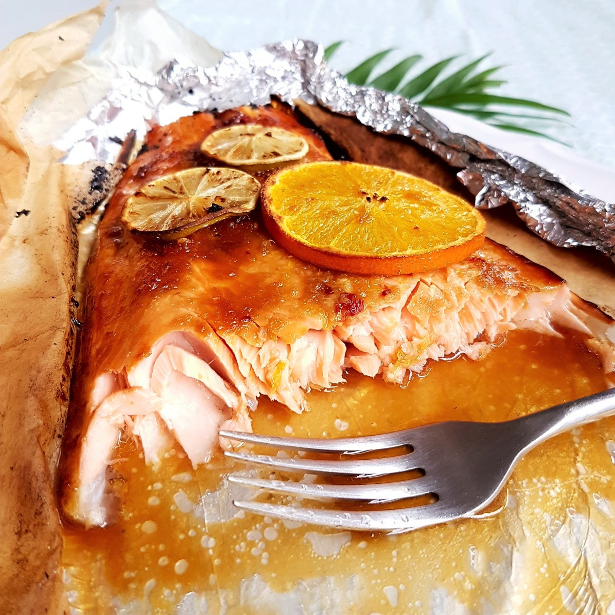Sticky Citrus Honey Soy Baked Salmon