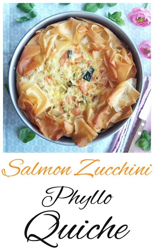 salmon phyllo quiche
