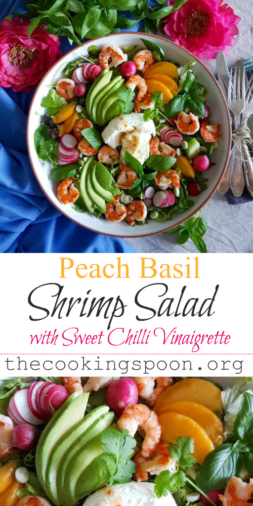 Peach Basil Shrimp Salad