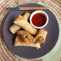 Chinese Spring Rolls with three dipping sauces
