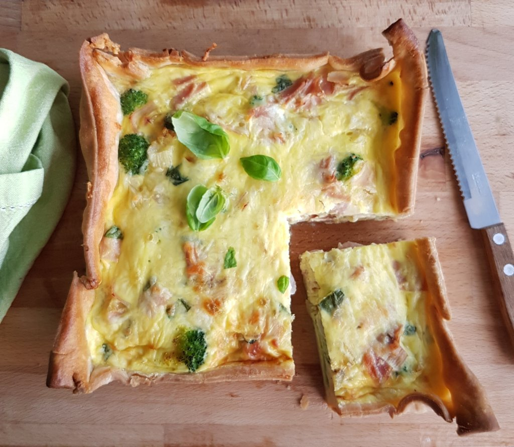 Quiche ham broccoli